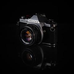 Pentax ME Super (Magnus Nicander) Tags: magnus nicander analog film camera 35 mm black pentax me super reflection old vintage nikon d7000 yongnuo strobist strobe flash home studio