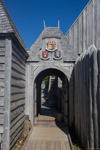 L'entrée du fort - Habitation de Port-Royal