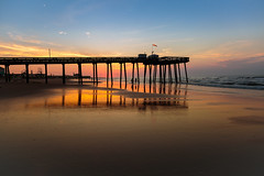 Ocean City NJ Pier Sunrise (c_slavik) Tags: sunrise ocean city nj beach shore jersey atlantic beauty orange sunset landscape seascape nature