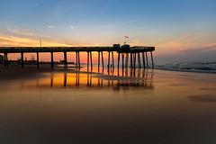 Ocean City NJ Pier Sunrise (c_slavik) Tags: sunrise ocean city nj beach shore jersey atlantic beauty orange sunset landscape seascape nature