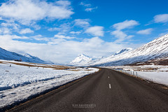 highway and snow mountain in Iceland (Kanonsky) Tags: snow alpine alps atlantic beautiful clouds cold europe glaciers highland highway iceland landscape middle mountain nature road trail travel volcanic winter