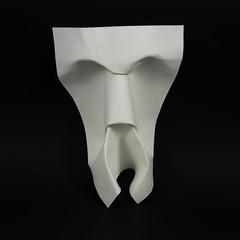 Professor Mmaa (Micha Kosmulski) Tags: origami mask face human termite ant insect professormmaslecture stefanthemerson literature watercolorpaper michakosmulski black white wykadprofesorammaa wetfolding