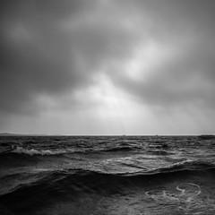 waves (*hassedanne*) Tags: sea waves bw sweden ljungskile