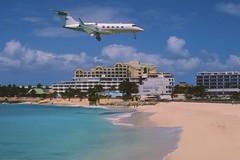 Untitled Gulfstream G-1159 Gulfstream II-SP; N794SB@SXM, March 2004 (Aero Icarus) Tags: sxm princessjulianainternationalairport saintmartin slidescan plane aircraft flugzeug gulfstreamg1159gulfstreamiisp n794sb gulfstreamii mahobeach