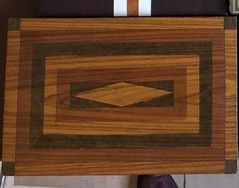 Backgammon board I handmade more than 32 years ago, it's still looking good even after being knocked around all these years. (allanpar) Tags: backgammon backgammonboard