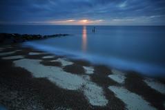 Suffolk Southwold (daveknight1946) Tags: greatphotographers suffolk southwold sunrise boulders sandpatterns shingle longexposure clouds