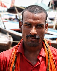 Pilgrim, Varanasi-India (MeriMena) Tags: flickrtravelaward eos450d canon merimena flickrsbest travel ngc cultures ganga pilgrim orange varanasi asia eyes portrait face
