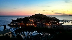 The Peninsula (Ciccio Pizzettaro) Tags: peninsula silence bay left tales right pink yellow sunset sea water illuminated horizonoverwater liguria scenics tranquility sky silencebay