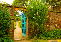 Inviting.........Come On In (williamrandle) Tags: hat clue croftcastle yarpole herefordshire uk england 2016 thewelshmarches walledgarden arch architecture door outdoor path shrubs view wall brick colour trees plant tamron 2470f28vc garden serene tree perspective