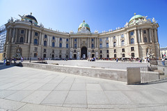 Hofburg palace (chrisdingsdale) Tags: hofburg palace vienna austria wideangle people tourists summer day outdoors building famous landmark square blussky architecture capital city europe european exterior travel urban imperial michaelwing