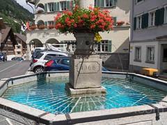 St. Gallus Fountain, Wassen, Uri, Switzerland (jag9889) Tags: jag9889 fountain wassen centralswitzerland switzerland saint 20160811 2016 europe uri outdoor alpine ch cantonofuri helvetia innerschweiz kantonuri schweiz suisse suiza suizra svizzera swiss zentralschweiz