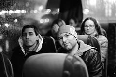 Bus tour to St. Petersburg (Pavels Dunaicevs) Tags: bus tour tourist travel city petersburg russia night portrait bokeh lights autumn rain nikon nikkor d750 50mm 14 group guy man male hat
