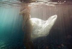 E. (georgekamelakis) Tags: sea shadow underwater model color crete cinematic faceless mermaid georgekamelakis greece greek girl nikon 28mm dress
