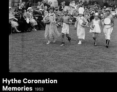 Hythe Coronation (theirhistory) Tags: parade england uk people locals children boys cook native grassm dress clothing shoes wellies hat skirt rubberboots girl child
