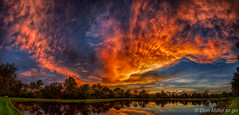 Fire in the Sky (DonMiller_ToGo) Tags: panoimages8 cloudporn landscape sunsetmadness hdrphotography skypainter reflection goldenhour d5500 panorama florida hdr panoramic 3xp millerville lake onawalk clouds outdoors sunsetsniper cloudsonfire skycandy sunsets sky