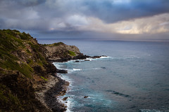 Dark Clouds (blackhawk32) Tags: hawaii nakalelepoint westmaui beach