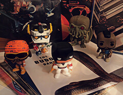 Vinyl on Vinyl (jgg3210) Tags: funko pop records vinyl photograph filter figurine space ghost macho man randy savage voltron defender universe cthulhu mr mister t ba baracus collectible toy beatles black keys kiss budos band vintage retro sixties seventies eighties a team hp lovecraft wwf