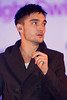 Tom Parker of The Wanted, at the switch on of the Meadowhall Christmas Lights at Meadowhall. Sheffield, England