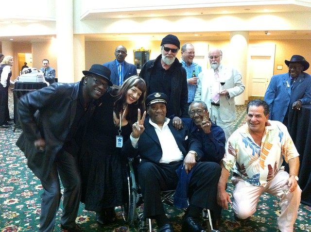 "Joe Louis Walker, Candye Kane, Bobby ""Blue"" Bland, Paul Oscher, Willy ""Big Eyes"" Smith, me, Bob Stroger"