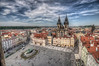 The sky over Prague 3 / Il cielo sopra Praga 3 (Fil.ippo) Tags: prague praha cityscape città travel nikon d5000 filippo filippobianchi oldtownsquare hdr sigma 1020 kostelmatkybožípředtýnem churchofourladybeforetýn tyn