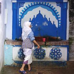 Chefchaouen, Morocco (Sallyrango) Tags: africa blue northafrica morocco berber maroc chaouen chefchaouen bluecity bluestblue