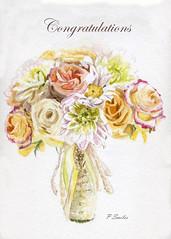 Fabulous Flowers Bouquet (Patsy L Smiles) Tags: roses summer watercolour bouquet dahlias margarite weddingcard fabulousflowers elementsorganizer patsysmiles