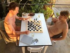 "IMG_2959 playing ""strip poker""? (francois f swanepoel) Tags: naked chess photostream shisa ipad strippoker nakedmen ipad2 shisafarm"