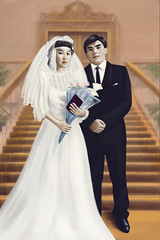 hurug (amur_bb) Tags: old wedding portrait photoshop painting photo retouch