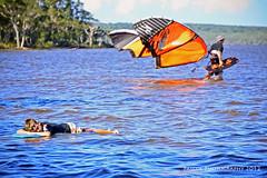 Lazy-Days (Shaun Pascoe Photography) Tags: ocean blue sea orange lake kite water sunshine coast colours australia adventure lazy windsurfing colourful watersports float sunbake weyba shaunpascoephotography