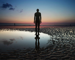 Iron man. Crosby . Merseyside. Sigma 10-20mm.  Explored #6. / 19-11-12 (The world as eye see it. Mike Fahy.) Tags: liverpool place cross anthony another gormley crosby merseyside thegalaxy dopplr:explore=5081