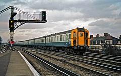 7357 At Raynes Park HR Scan (Deepgreen2009) Tags: station electric train platform fast railway southern waterloo portsmouth raynespark 4cig 4big