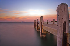 Rockingham Jetty (Birdman D700) Tags: le rockingham sunsetjetty leebigstopper
