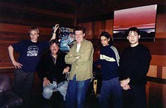 "Aquasky, Mark Murphy and our old manager Paul Dowling - Sly Stones studio in Sausalito 1998 • <a style=""font-size:0.8em;"" href=""http://www.flickr.com/photos/37867910@N00/8199868684/"" target=""_blank"">View on Flickr</a>"