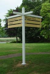Exterior Wayfinding Directional Sign