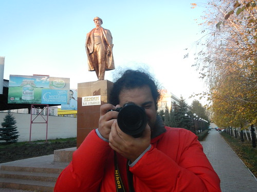 My photographer profile picture with Lenin