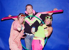 293801_415280808537442_1337970495_n (onesieworld) Tags: party ski outfit shiny neon retro suit 80s nylon kinky snowsuit catsuits skisit