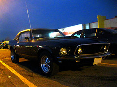 1969 Ford Mustang. (Steve Brandon) Tags: auto ontario canada ford car geotagged evening twilight automobile dusk ottawa voiture suburb bluehour mustang nepean soir fordmustang  musclecar zellers ponycar       fordmotorcompany  merivaleroad    meadowlandsdrive     meadowlandsmall