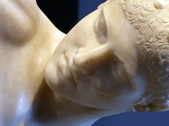 Myron, Discobolus, detail of face