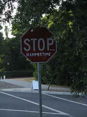 hammer time (Molly Des Jardin) Tags: california usa sign hammer digital funny university stop stanford conference hammertime humanities 2011 dh2011