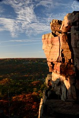 Devils Doorway at Devils Lake State Park - Wisconsin (tgiacb717) Tags: statepark autumn trees sky lake fall nature water leaves wisconsin clouds outdoors scenery rocks hiking scenic hike trail geology wi devilslake baraboo devilslakestatepark baraboowisconsin baraboowi tgiacb717