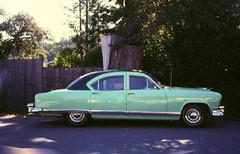 Kaiser I (atomicthumbs) Tags: classiccar kaiser oldcar kodakektachromep1600 turquoisecar kaisertraveler olympusinfinitystylusepic ~lovelycar~