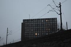 Railway (AstridWestvang) Tags: building railway wires poles larvik