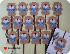 {{ ursinhos }} (carambola arte em feltro) Tags: livro feltro festa aniversrio urso nascimento maternidade chaveiro ursinho marcador elstico marcadordepgina lembranadeaniversrio ursoemfeltro