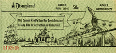 Disneyland Ticket (jericl cat) Tags: green castle illustration vintage logo drawing disneyland ticket columbia matterhorn monorail ticketbook