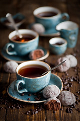 Breakfast with tea and chcolate cookies (The Little Squirrel) Tags: food cookies breakfast photography tea chocolate homemade teatime foodphotography nikond700