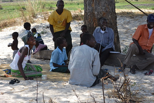 Members of Site Fishing Camp, Senanga District, Zambia. Photo by Simon Heck, 2011.