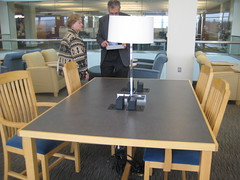 Reading room tables (williams_college_libraries) Tags: studytable colgateuniversity