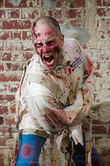 Ill eat your brains if you help me out of this jacket (RichardMcIntyre) Tags: portrait nikon zombie grunge bricks 28 nikkor 700 70200 gel sb grungy d800 70200mm 2470mm 2470 strobist
