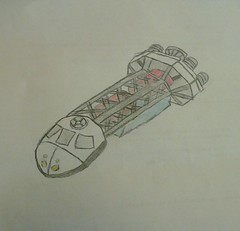 spaceship (brickmack) Tags: drawing scifi spaceship meh