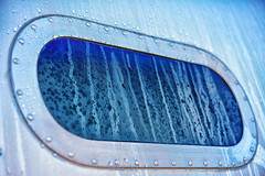 Airstream Window with Dew (Stmpjmpr) Tags: window vehicles rv airstream colorefexpro